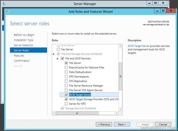 Microsoft iSCSI Target Kurulumu - Adım 4