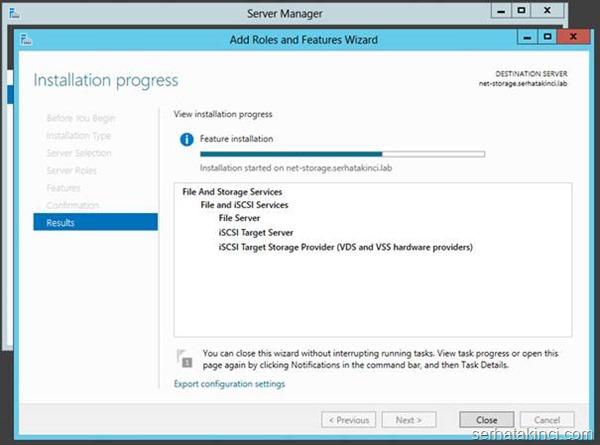 Microsoft iSCSI Target Kurulumu - Adım 7
