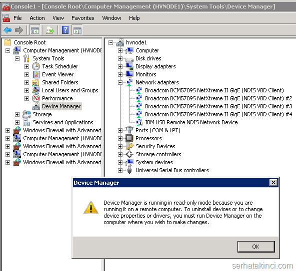 Windows Aygıt Yöneticisi - Uzak Bağlantı