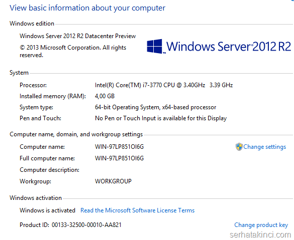 Windows Server 2012 R2 Önizleme Kurulumu 12