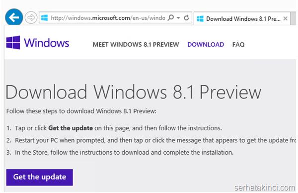 Windows 8.1 Önizleme İndir 1