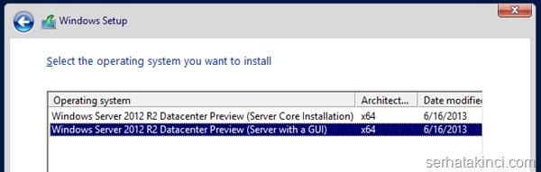 Server 2012 R2 Hyper-V Yükseltme 4