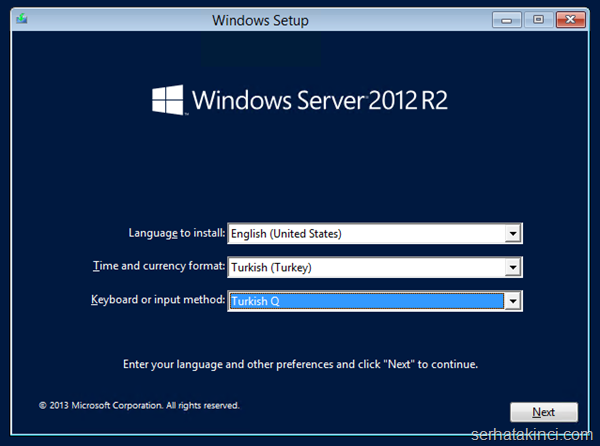Windows Server 2012 R2 Önizleme Kurulumu 2