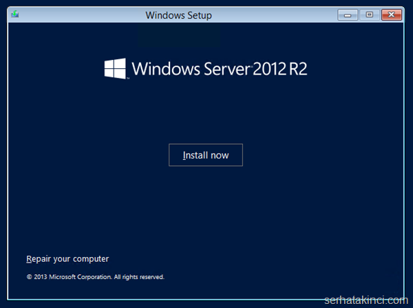 Windows Server 2012 R2 Önizleme Kurulumu 3