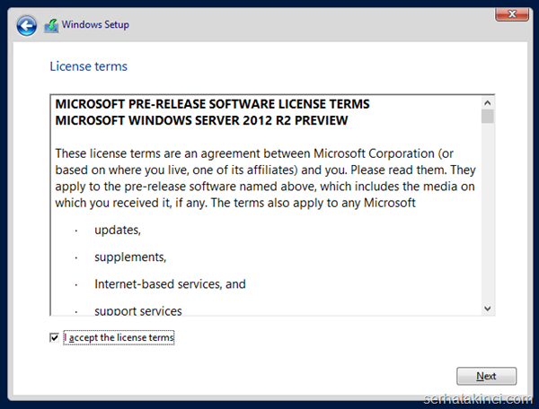 Windows Server 2012 R2 Önizleme Kurulumu 6