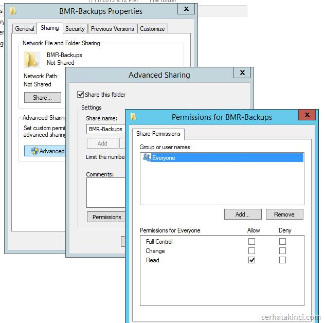WindowsImageBackup Paylaşımı