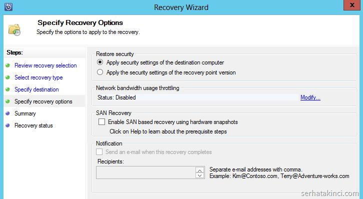 DPM Recovery - Adım 4