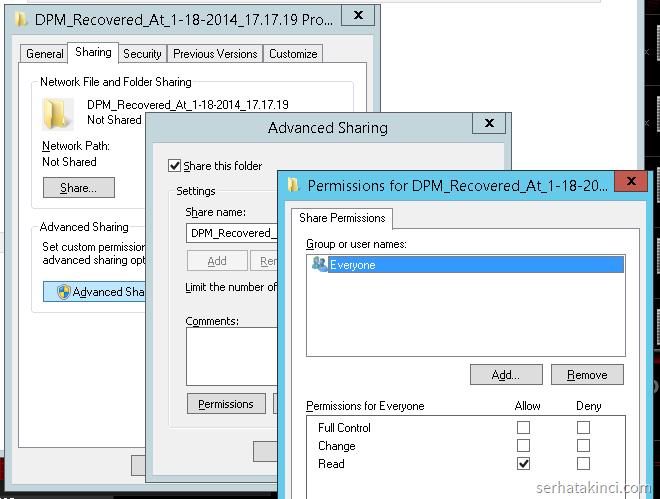 WindowsImageBackup Erişimi