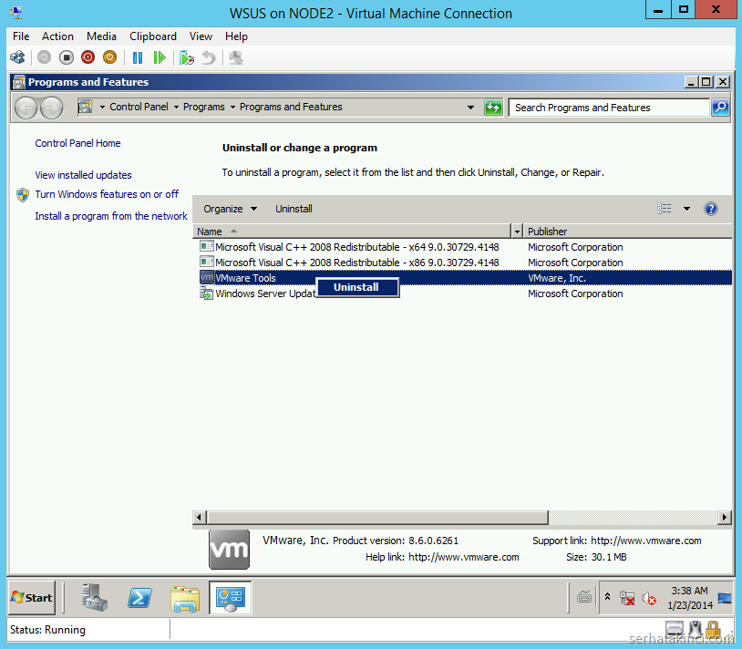 Uninstall VMware Tools