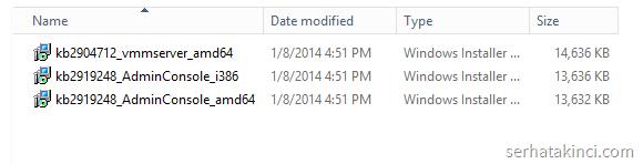 Update Rollup 1 Kurulum Paketleri