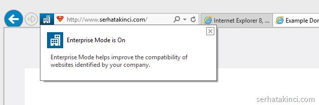 Windows 8.1 Update - Internet Explorer Enterprise Mode