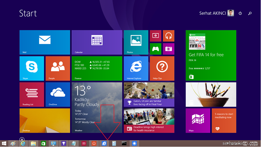 Windows 8.1 Update - Görev Çunuğu