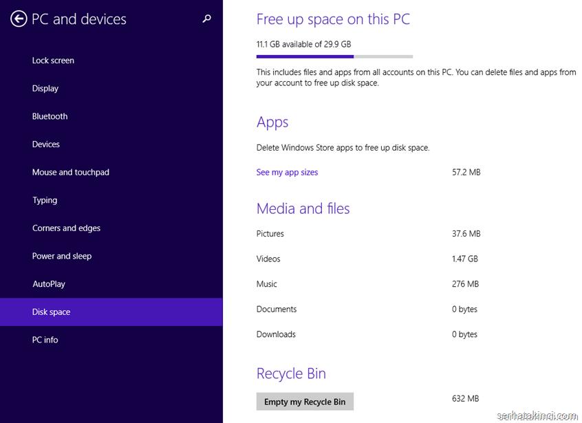 Windows 8.1 Update - Disk Space