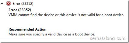 VMM Error 23352
