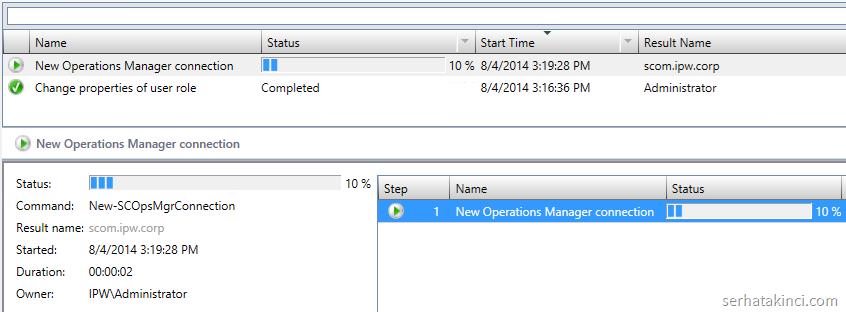 VMM ile SCOM Entegrasyonu - Jobs