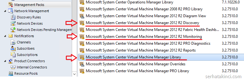 SCOM - Virtual Machine Manager Management Packs