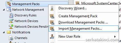 SCOM - Import Management Pack