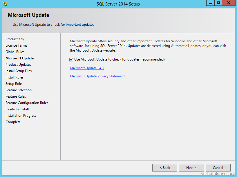 SQL Server 2014 - Microsoft Update