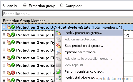 DPM - Modify protection group