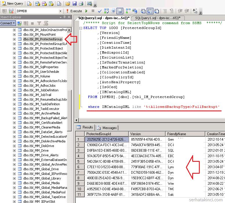 SQL Query - IMCatalogXML - FullBackup