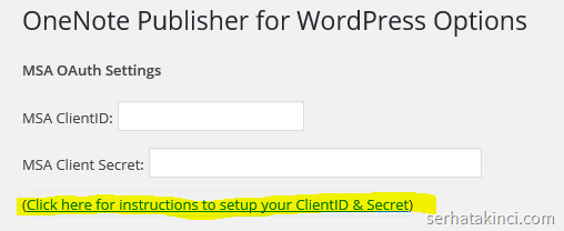 wordpress-onenote-msa-client-id-secret