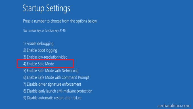 advanced options windows 10