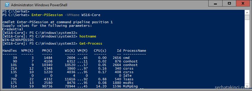 powershell-direct-hyperv-pssession