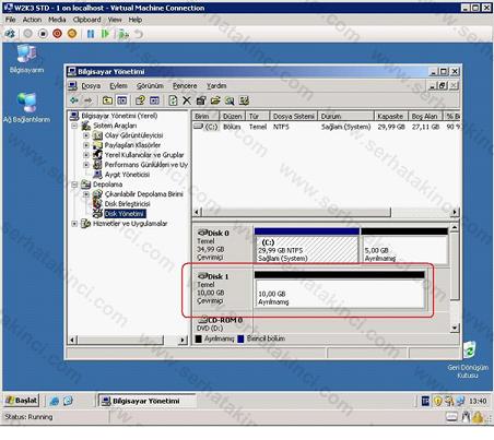 Sanal Makine Disk Yönetimi