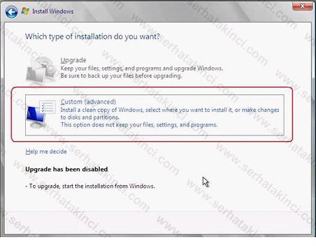 Hyper-V Server 2008 Kurulumu Adım 5