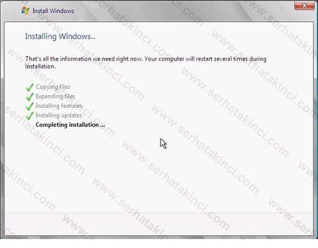 Hyper-V Server 2008 Kurulumu Adım 8