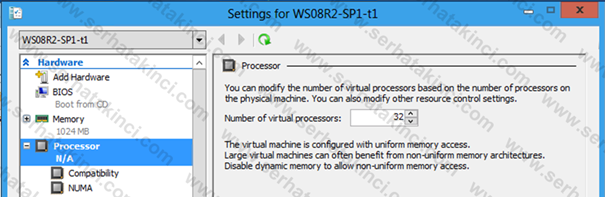 Sanal Makine Başına 32 vCPU Desteği