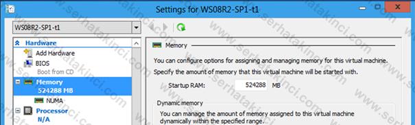 Sanal Makine Başına 512GB RAM Desteği