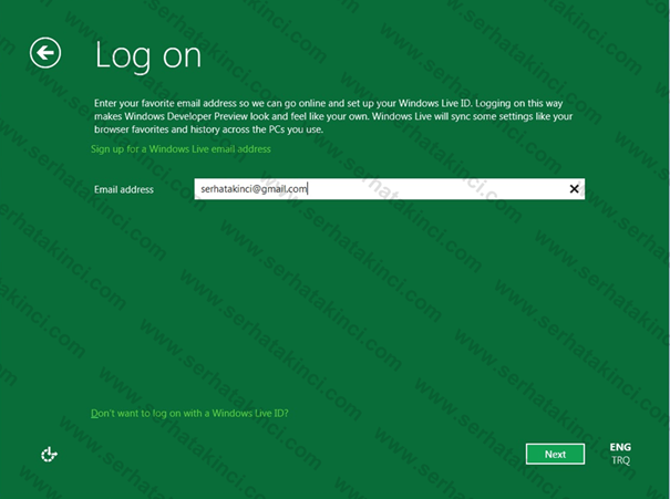 Log on with Windows Live ID